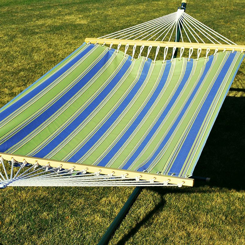 Algoma Stripe Fabric Double Hammock - Outdoor