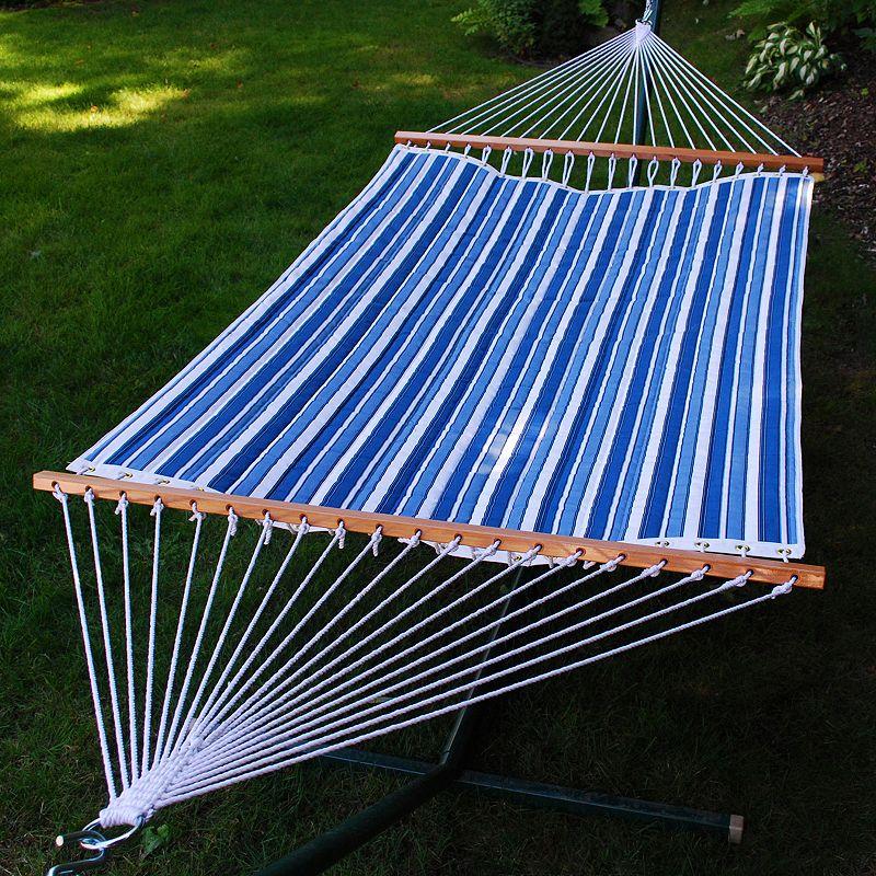 Algoma Double Reversible Fabric Hammock - Outdoor