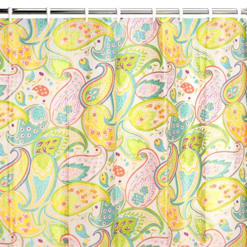 Creative Bath Cool Paisley Vinyl Shower Curtain