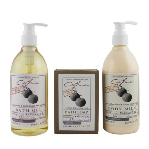 Olivia Care Cote Jardin Mandarin Aromatherapy Bath Gift Set
