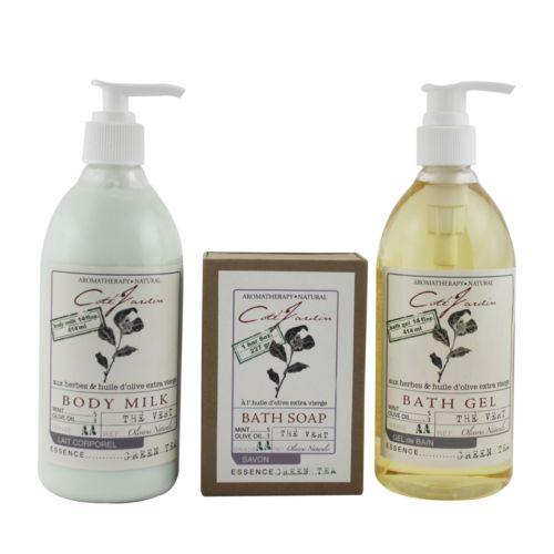 Olivia Care Cote Jardin Green Tea Aromatherapy Bath Gift Set
