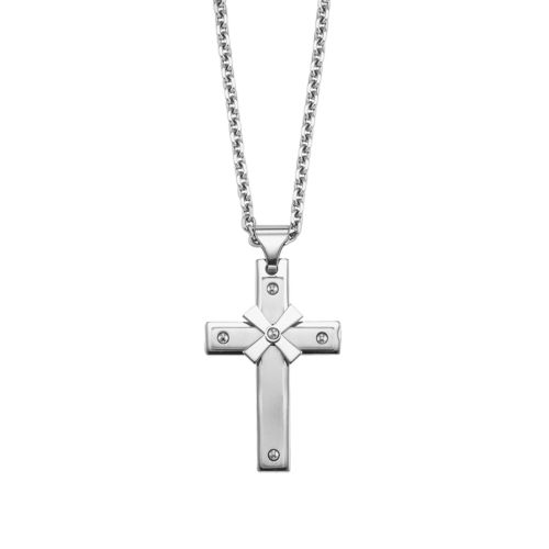 AXL by Triton Stainless Steel Cross Pendant