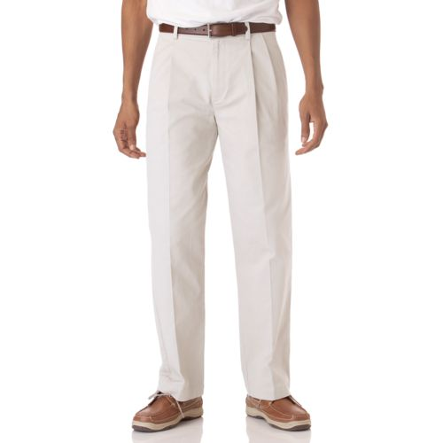 Men's Chaps Pleated Twill Chino Pants