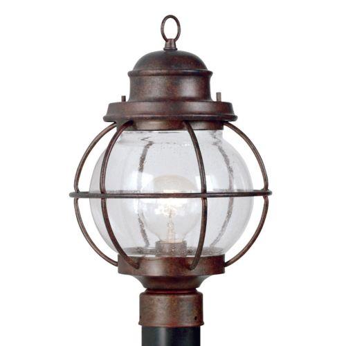 Hatteras 1-Light Post Lantern - Outdoor