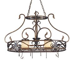 Verona Lighted Pot Rack by