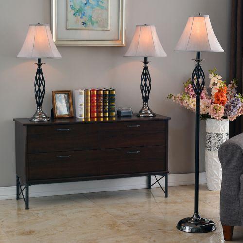 3-pc. Sperry Bronze Lamp Set