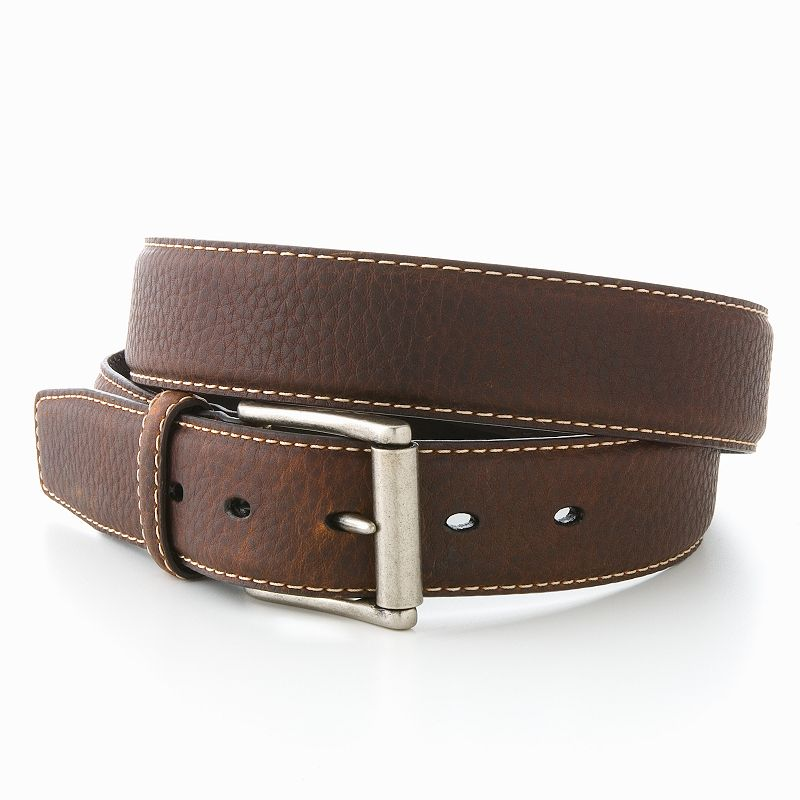 Columbia Top-Stitched Leather Belt