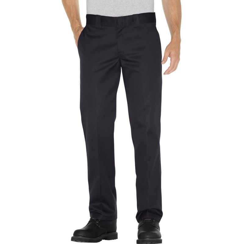 Men's Dickies Slim Straight Fit Twill Work Pants, Size: 40X30, Black thumbnail