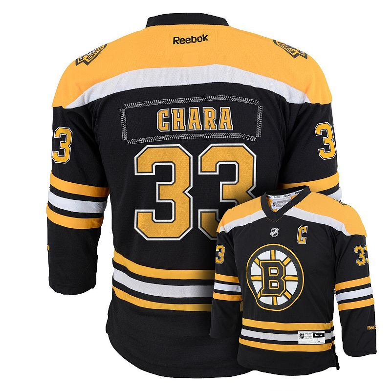 Boys 8-20 Reebok Boston Bruins Zdeno Chara Team Color Jersey