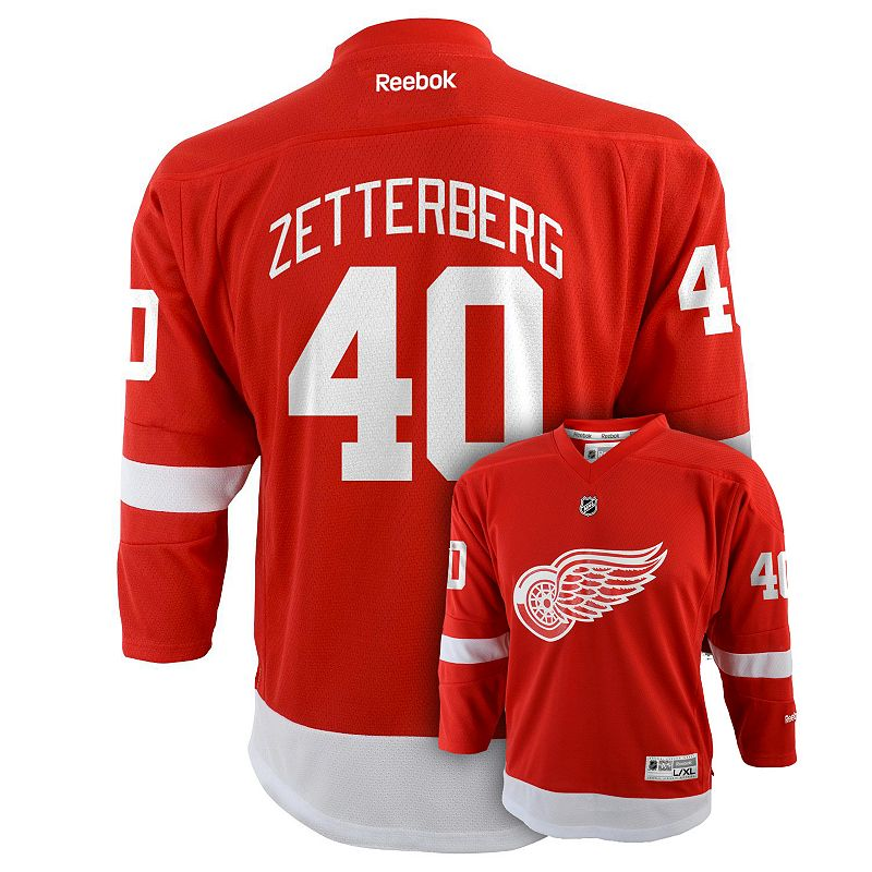 Boys 8-20 Reebok Detroit Red Wings Henrik Zetterberg Jersey
