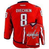 Boys 8-20 Reebok Washington Capitals Alex Ovechkin NHL Replica Jersey