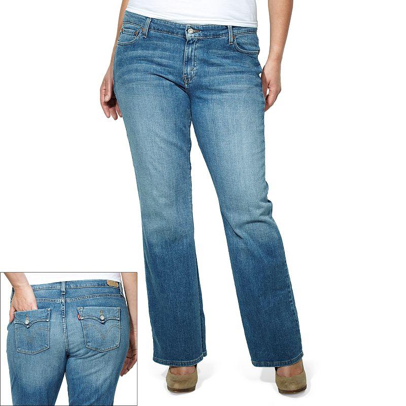 Plus Size Levi's 590 Bootcut Fuller-Waist Jeans