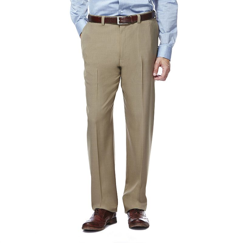 Men's Haggar eCLo Stria Classic-Fit Flat-Front Dress Pants
