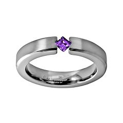 STI by Spectore Titanium Amethyst Ring by Amethyst Rings