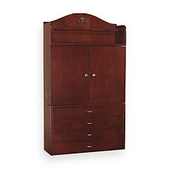Cherry Wall-Mount Jewelry Cabinet Armoire by