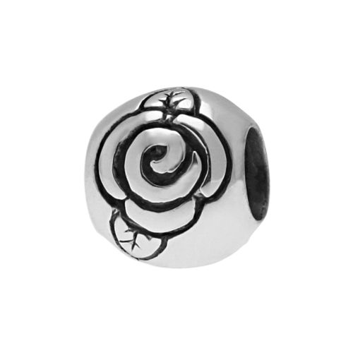 Individuality Beads Sterling Silver Rose Bead
