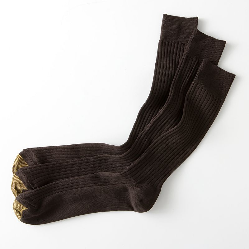 Men's Extended Length GOLDTOE 3-pk. Canterbury Dress Socks