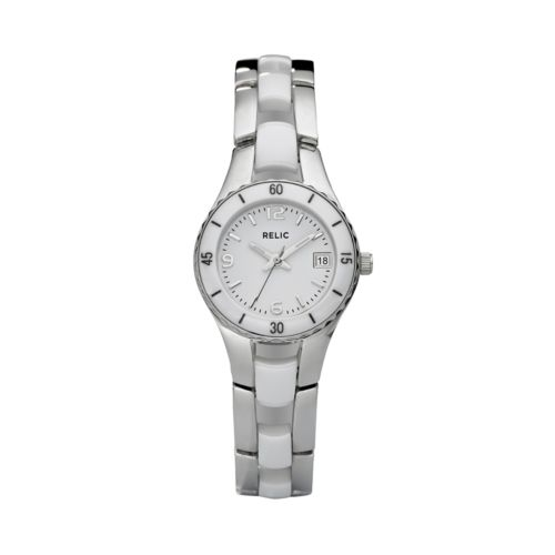 Relic Charlotte Stainless Steel and Ceramic Watch - Women