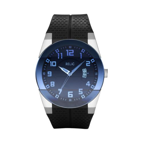 Relic Jake Stainless Steel Silicone Watch - ZR11861 - Men