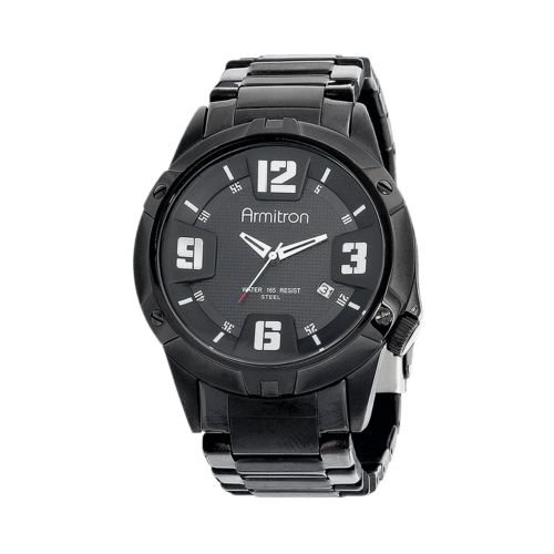 Armitron Stainless Steel Black Ion Watch - Men