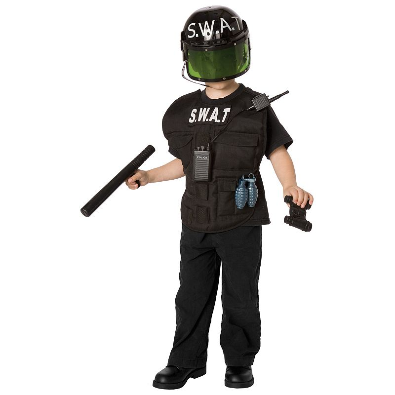 S.W.A.T. Officer Costume - Kids, Boy's, Size: 4-8, Multicolor