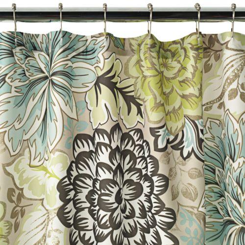 Home Classics® Reiko Floral Fabric Shower Curtain