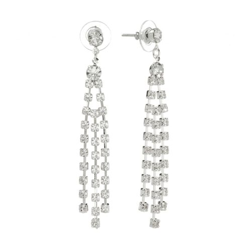 Apt. 9® Silver-Tone Simulated Crystal Drop Earrings