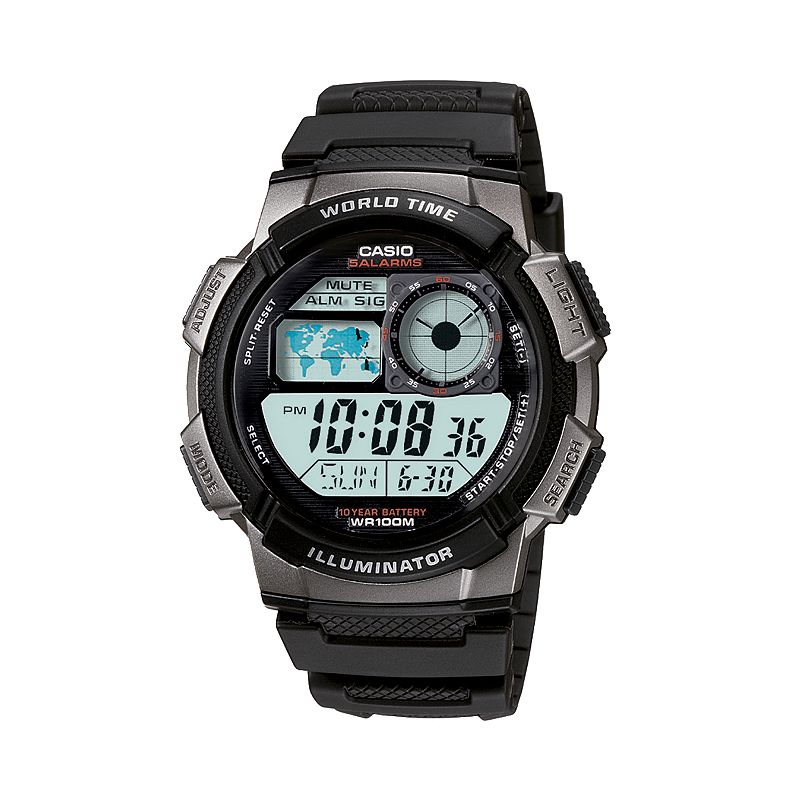 Casio Men's Illuminator Digital Chronograph Watch - AE1000W-1BV