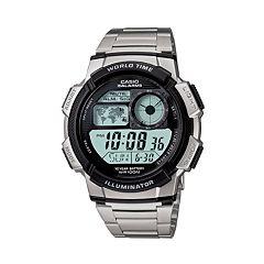 Casio Men's Illuminator Stainless Steel Digital Chronograph Watch AE1000WD-1AV