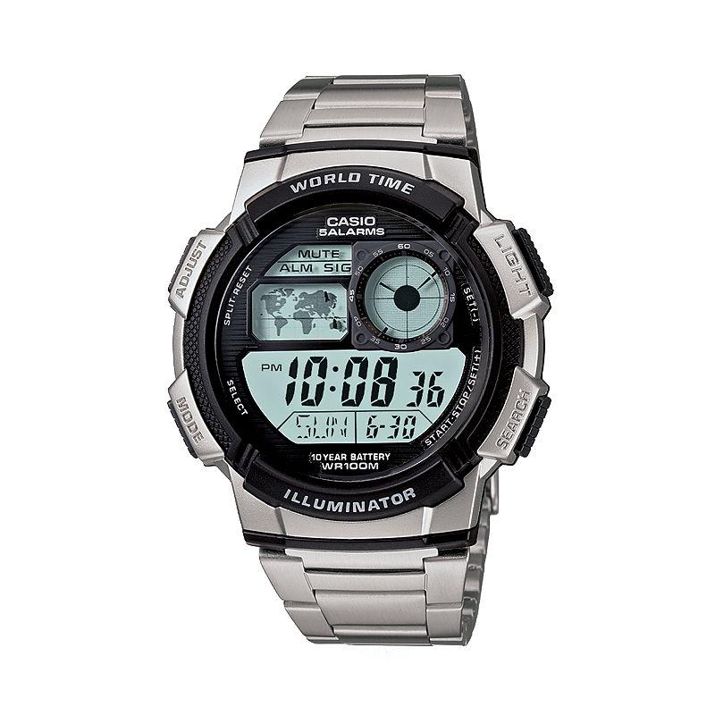 Casio Men's Illuminator Stainless Steel Digital Chronograph Watch - AE1000WD-1AV