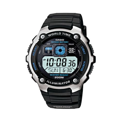 Casio Watch - Men's Illuminator Black Resin Digital Chronograph