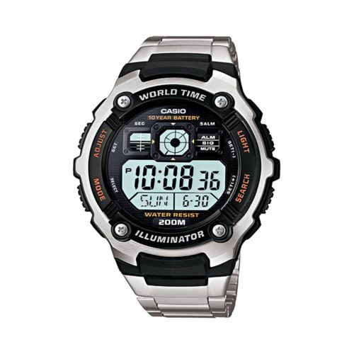Casio Watch - Men's Illuminator Stainless Steel Digital Chronograph