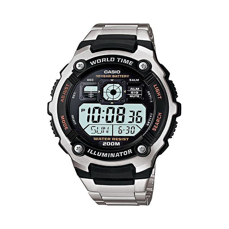 Casio Men's Illuminator Stainless Steel Digital Chronograph Watch - AE2000WD-1AV