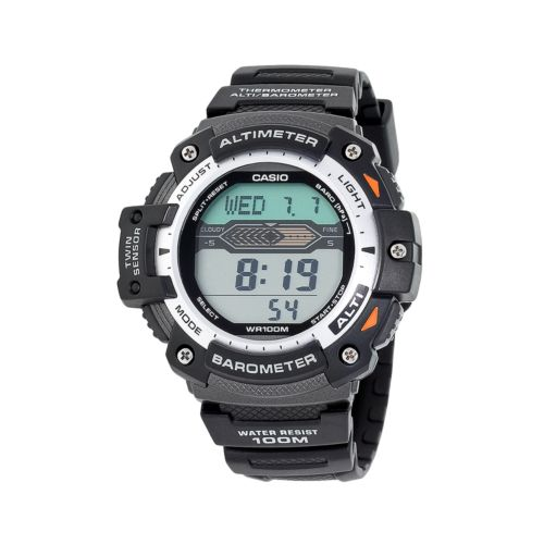 Casio Watch - Men's Twin Sensor Black Resin Digital Chronograph