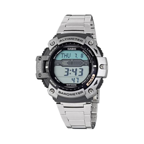 Casio Men's Twin Sensor Stainless Steel Digital Chronograph Watch