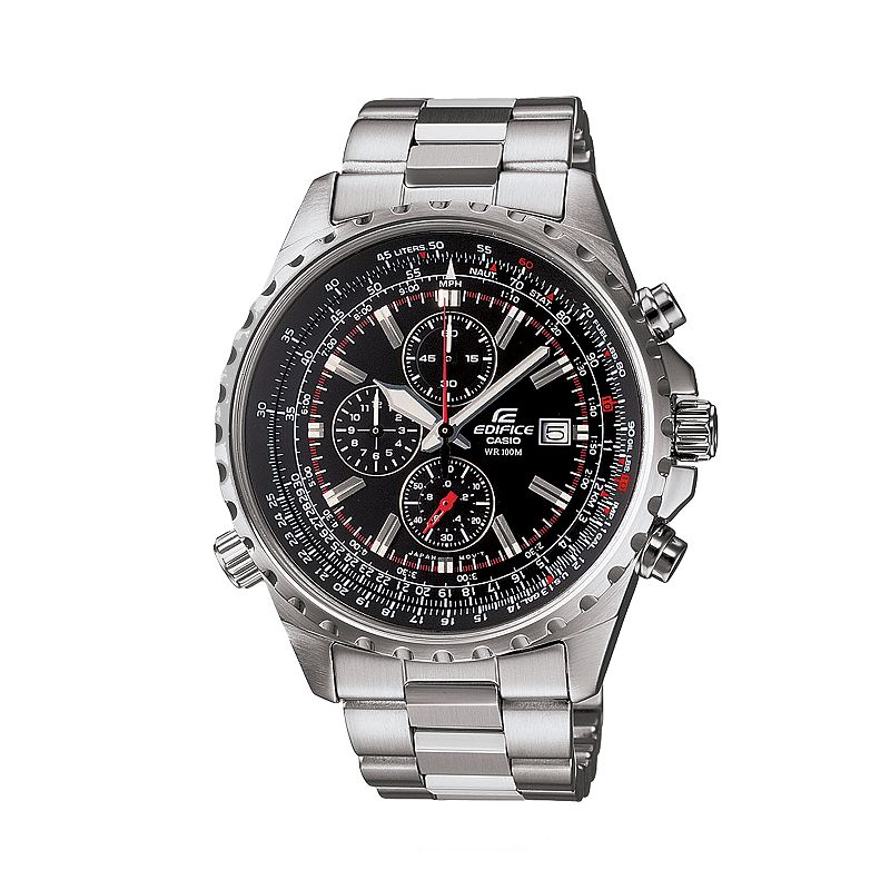 Casio Men's EDIFICE Stainless Steel Flight Computer Chronograph Watch - EF527D-1AV