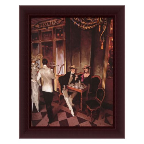 Cafe Florian Framed Canvas Art by Juarez Machado