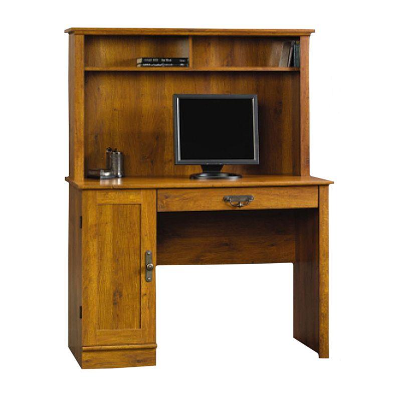 Sauder Harvest Mill Computer Desk and Hutch