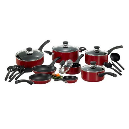 T-Fal Inspirations 20-pc. Red Nonstick Aluminum Cookware Set