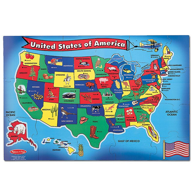 Melissa and Doug USA Map Floor Puzzle
