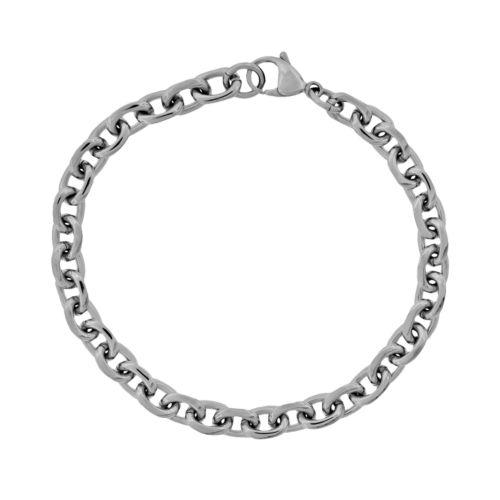 Stainless Steel Rolo Chain Bracelet - Men