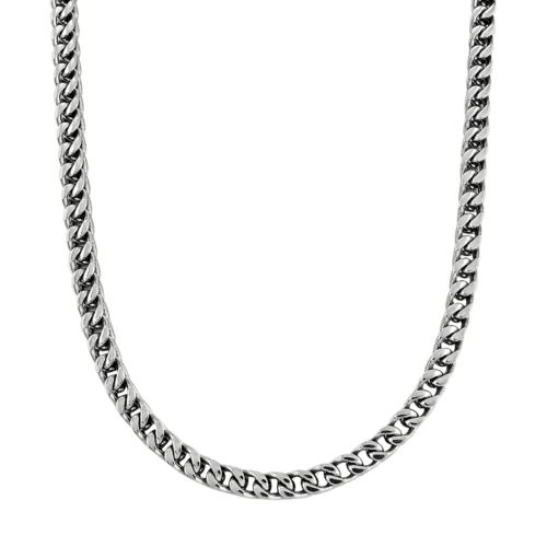 Stainless Steel Foxtail Chain Necklace - Men