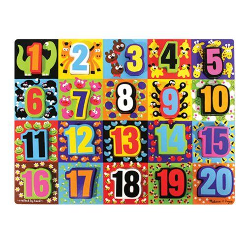 Melissa and Doug Jumbo Numbers Chunky Puzzle