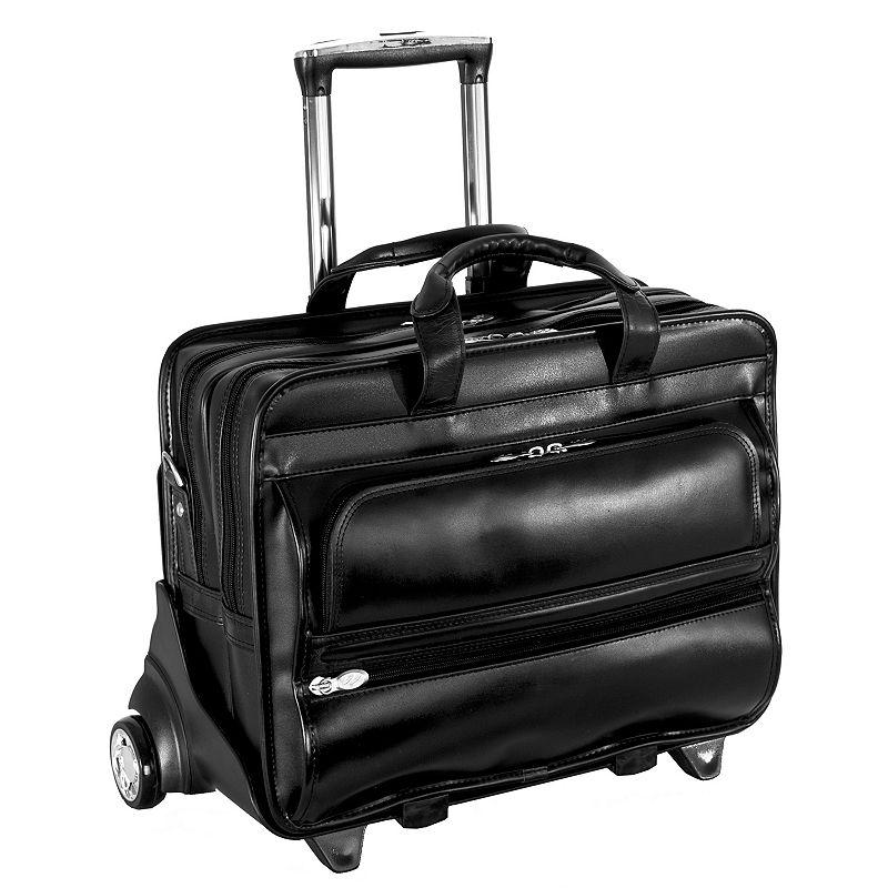 McKlein Franklin Leather 17-in. Detachable-Wheel Laptop Case
