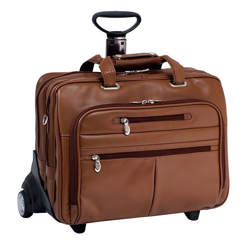 McKlein OHare Leather 17-in. Detachable-Wheel Laptop Case