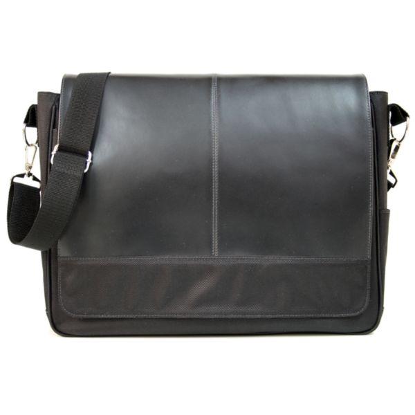 Royce Leather Nylon Laptop Messenger Bag