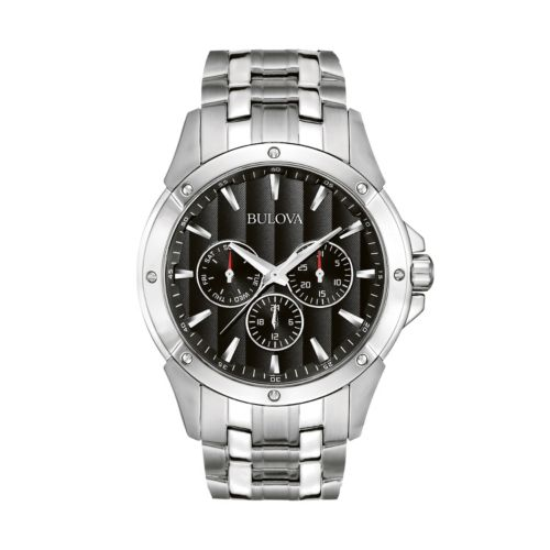 Bulova Stainless Steel Watch - 96C107 - Men