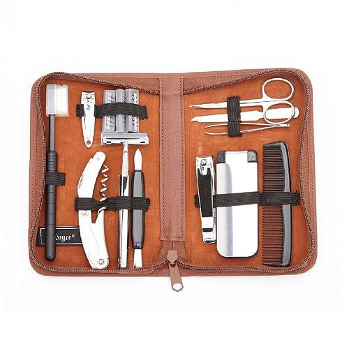 royce leather executive travel and grooming kit. Black Bedroom Furniture Sets. Home Design Ideas