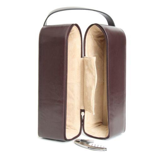 Royce Leather Double Wine Presentation Case