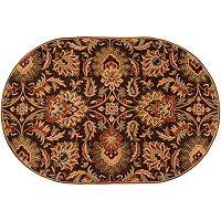 Surya Caesar Black Floral Rug - 6' x 9' Oval